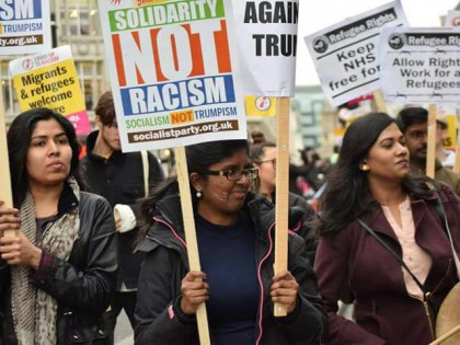 [SocialistParty.org]March against racism: Refugee Rights Campaign has lively bloc